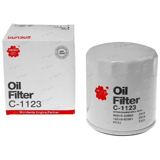 SAKURA Oil Filter -  Alfa Romeo 1992-1995 164, Chrysler 2000-2003 Voyager, Dodge 1995-2001 Caravan, Jeep 1998-2001 Cherokee, 1995-1999 Grand Cherokee, Mercedes Benz 1989-1993 190E, 1990-1993 300D, 1990-1991 420SEL