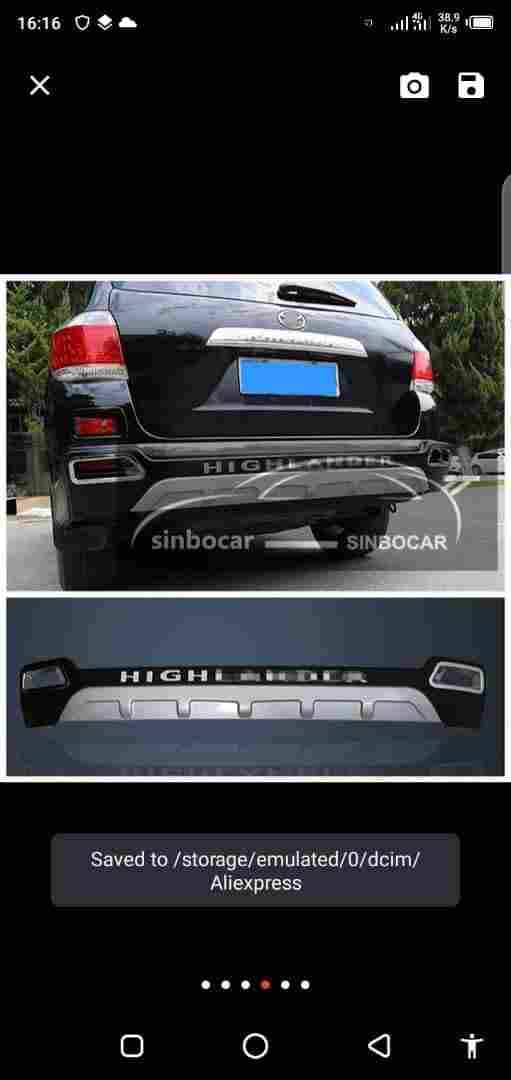 NEW GENUINE HIGHLANDER BUMPER