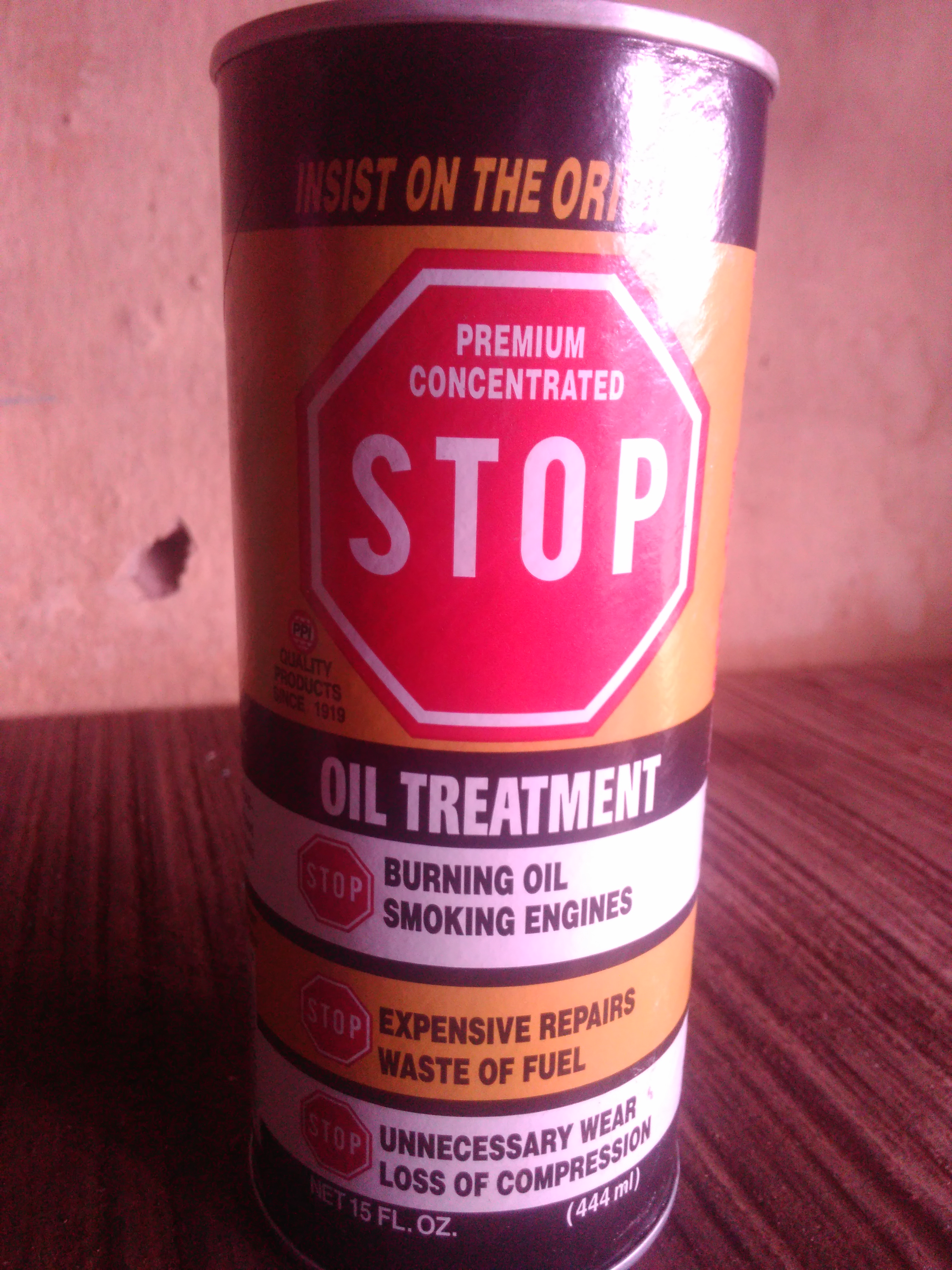 NEW STOP OIL TREATMENT