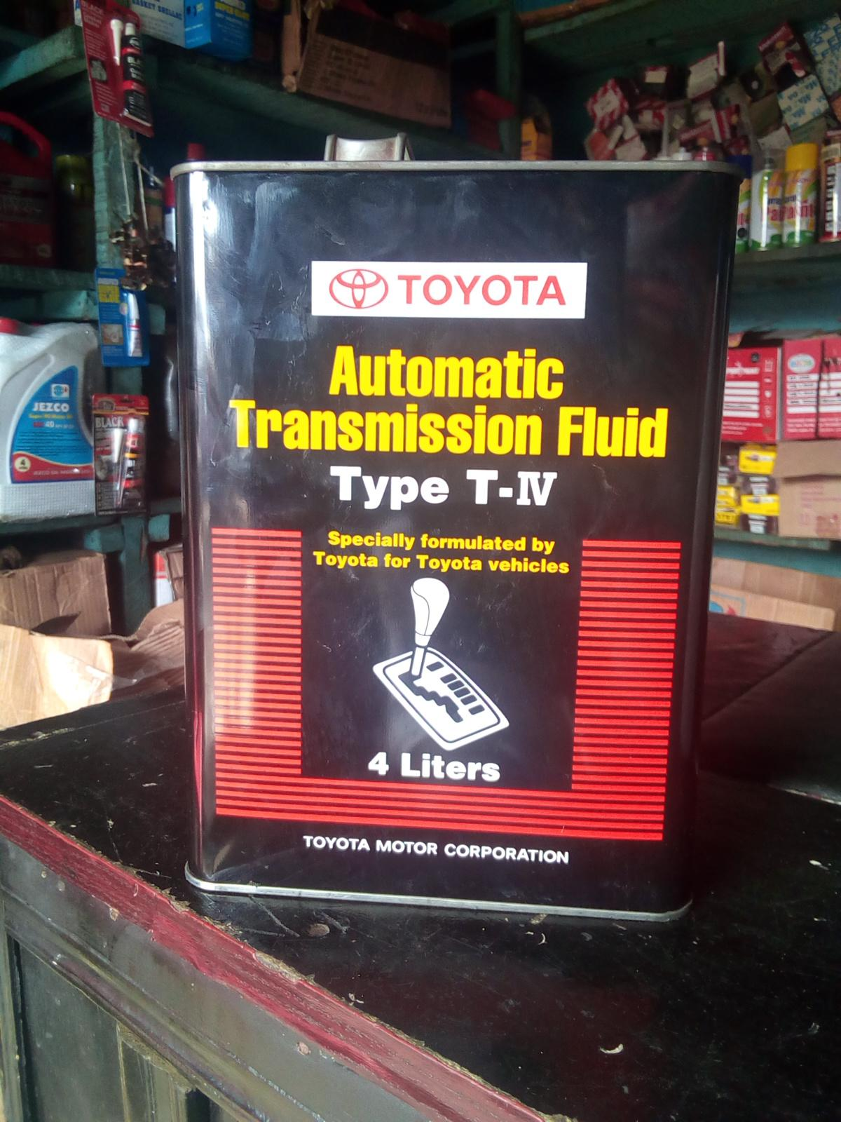 NEW TOYOTA TRANSMISSION FLUID