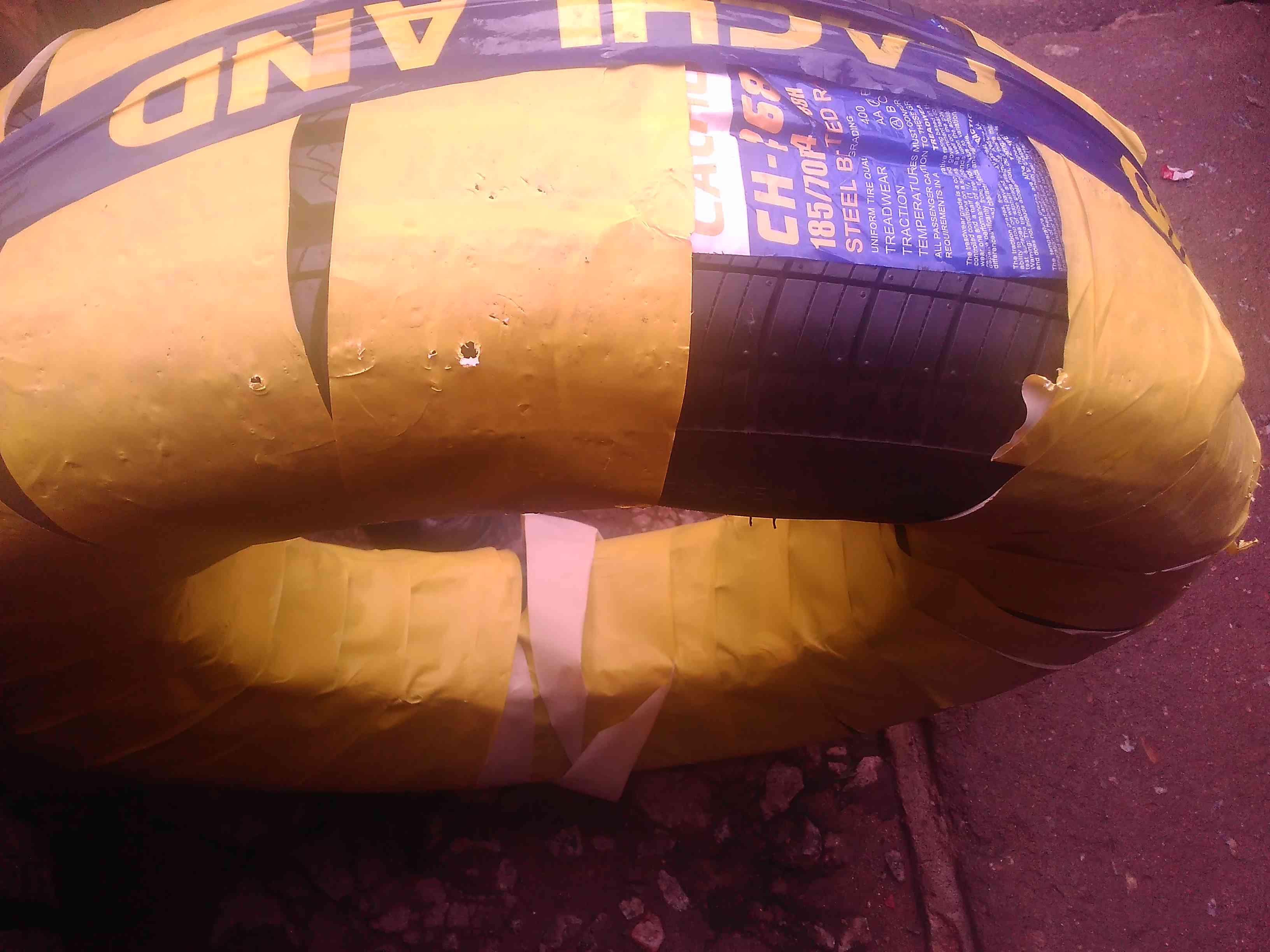 New cachland tyre