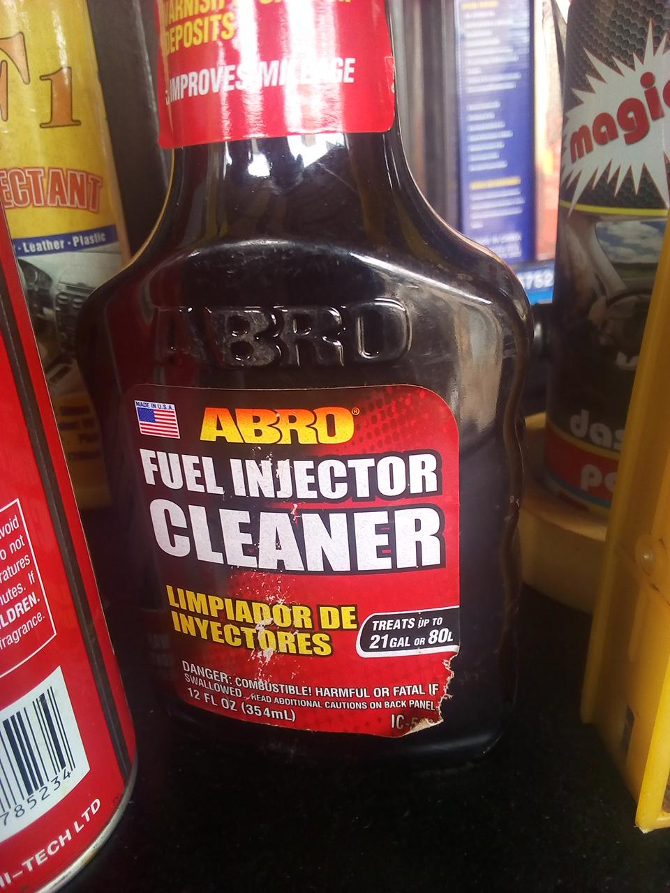 NEW ABRO FUEL INJECTOR CLEANER