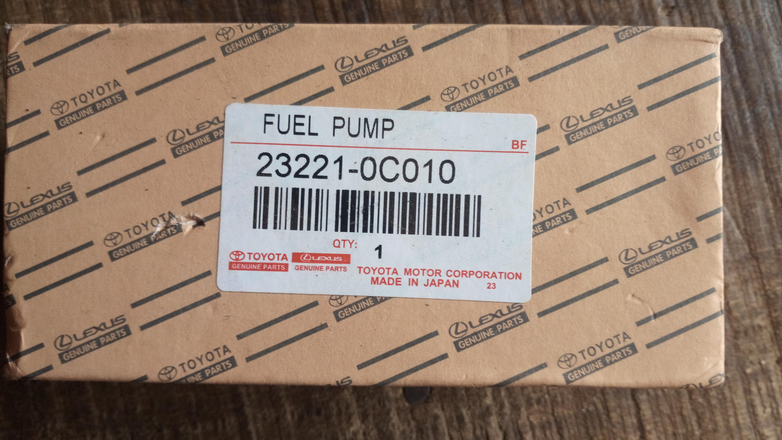 new toyota fuel pump