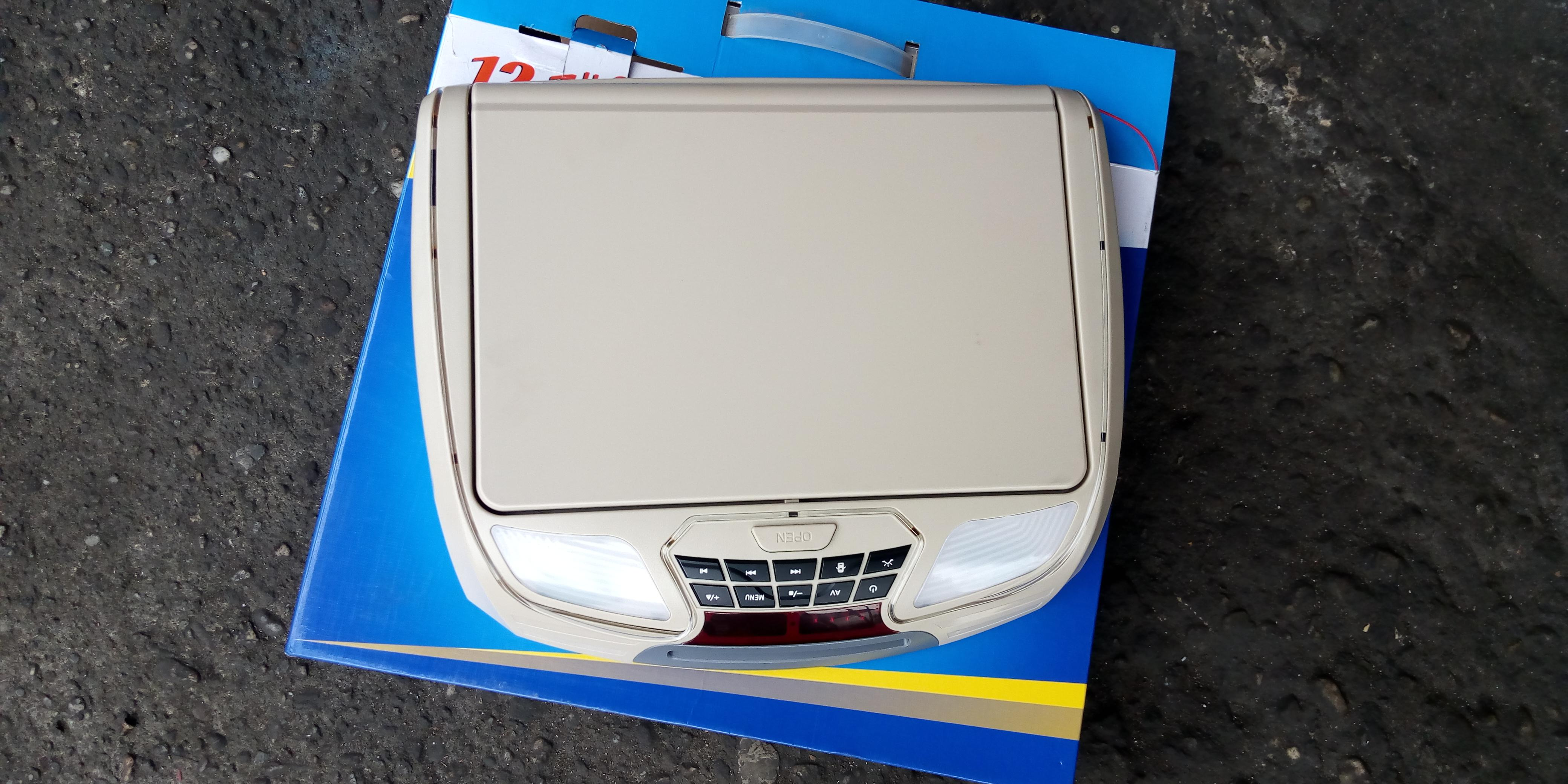 NEW GENUINE SEMI AUTOMATIC FLIP DOWN LCD MONITOR WITH DVD