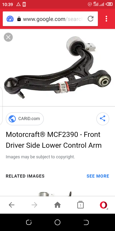 original motocraft low control arm